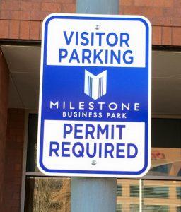 Informational Signs 5b7da6f242223 custom parking outdoor metal traffic sign safety wayfinding 256x300