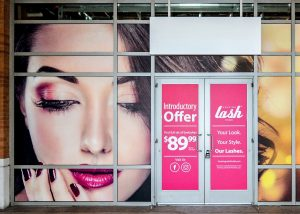 Window Film outdoor storefront window vinyl graphics custom 300x214